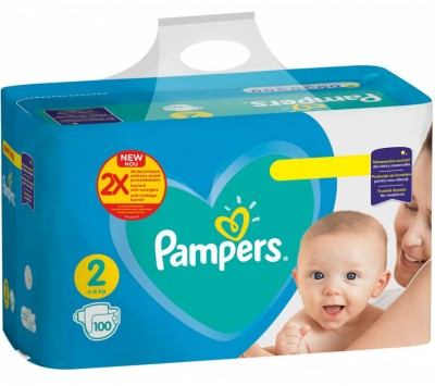 Бебешки пелени Pampers Active Baby Giant pack S2 4-8 кг
