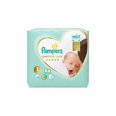 Бебешки пелени Pampers Premium Care Newborn S1 2-5 кг