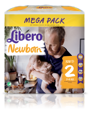 Бебешки пелени Libero Newborn (2) 3-6 кг Mega pack
