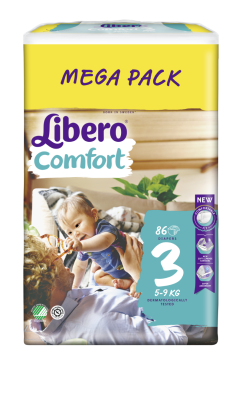 Бебешки пелени Libero Comfort (3) 5-9 кг Mega pack