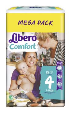 Бебешки пелени Libero Comfort (4) 7-11 кг Mega pack