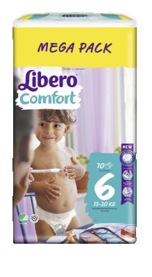 Бебешки пелени Libero Comfort (6) 13-20 кг Mega pack