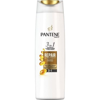 Възстановяващ шампоан Pantene Repair & Protect 3 в 1 за слаба и увредена коса