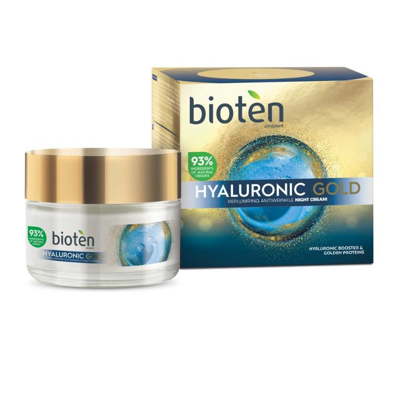 Нощен крем за лице Bioten Hyaluronic gold