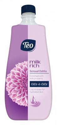 Течен сапун Teo Milk Rich Далия Пълнител
