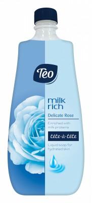 Течен сапун Teo Milk Rich Роза Пълнител