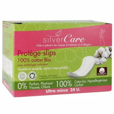 Органични ежедневни дамски превръзки Silver Care ултратънки