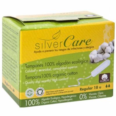 Дамски тампони с органичен памук Silver Care Super Regular