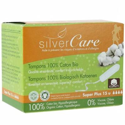 Дамски тампони с органичен памук Silver Care Super plus