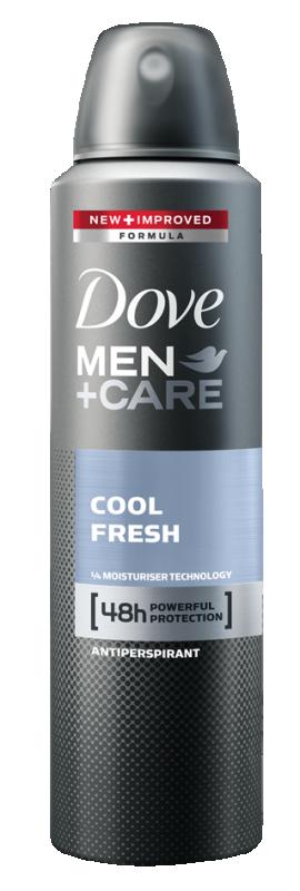 Део спрей против изпотяване Dove Men+Care Cool fresh