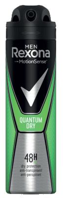 Део Спрей Rexona против изпотяване Men Quantum Dry
