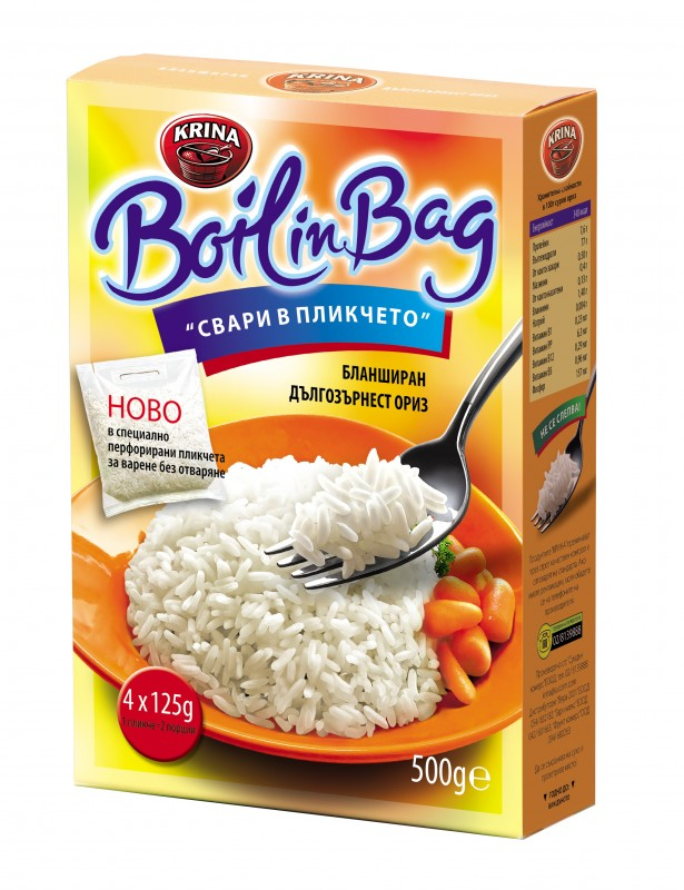 Ориз Бланширан Boil in Bag KRINA