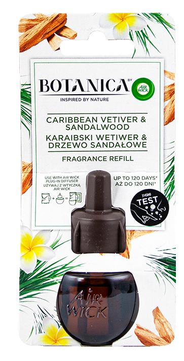 Пълнител за електрически ароматизатор Air Wick BOTANICA Карибски Ветивер и Сандалово дърво