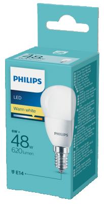 Philips LED крушка 6W=48W ГЛОБУС E14 2700К