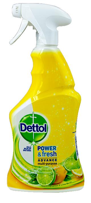 Антибактериален спрей за повърхности Dettol Lemon