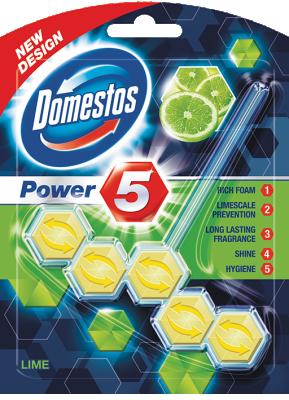Domestos WC Таблетки Power 5 Lime