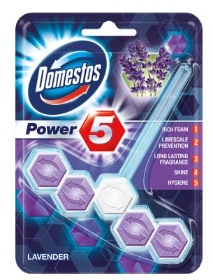 Domestos WC Таблетки Power 5 Lavender