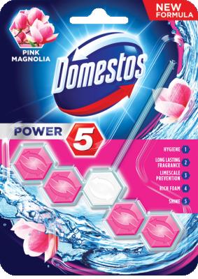 Domestos WC Таблетки Power 5 Pink Magnolia