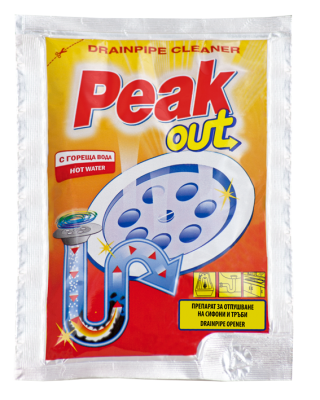Peak Out препарат за отпушване на канали с гореща вода