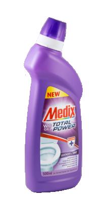 Почистващ WC гел Medix Total power Lavender & mint