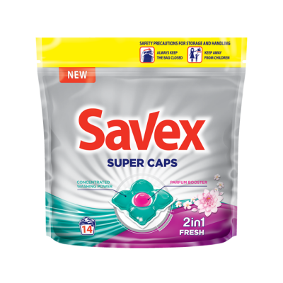Капсули за пране Savex Perfume Caps 2 in1 Fresh