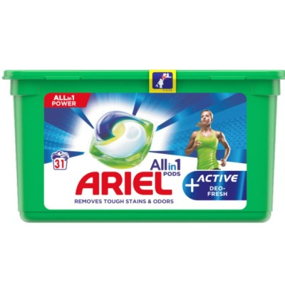 Капсули за пране Ariel Active deo fresh
