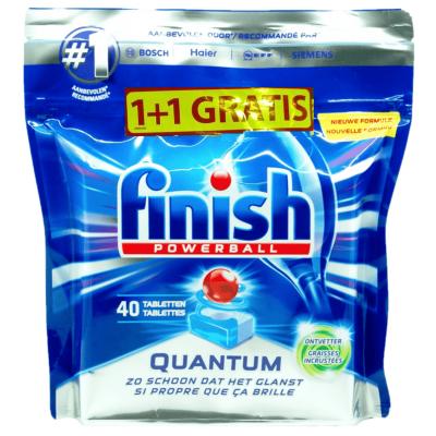 Таблетки за съдомиялна Finish Powerball Quantum 1+1 Gratis
