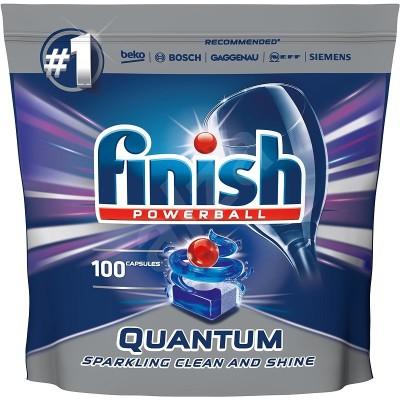 Таблетки за съдомиялна Finish Powerball Quantum Sparkling clean and shine