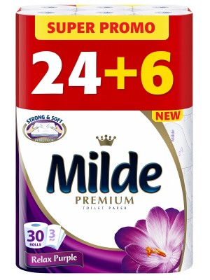 Тоалетна хартия Milde Premium Relax Purple