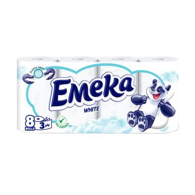 Тоалетна хартия Emeka White без аромат