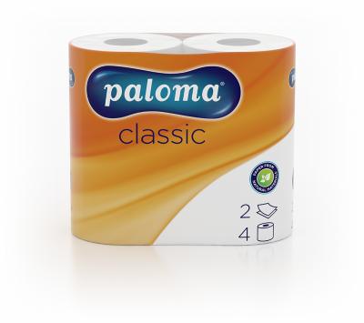 Тоалетна Хартия двупластова Paloma Classic Бяла