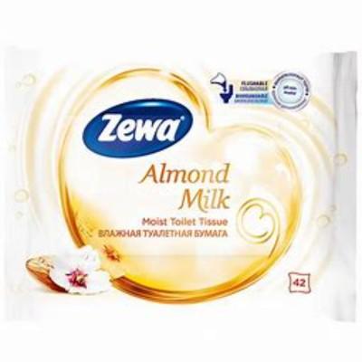 Влажна тоалетна хартия Zewa Almond milk