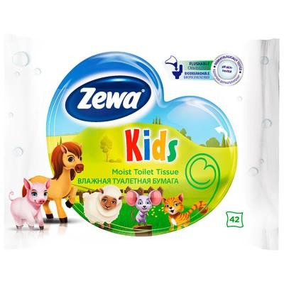 Влажна тоалетна хартия Zewa Kids