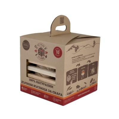 10minBBQ – дървени въглища с разпалки за барбекю