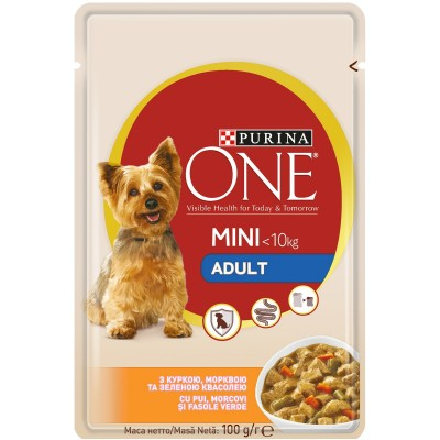 Purina One Mini Adult Пиле и Моркови