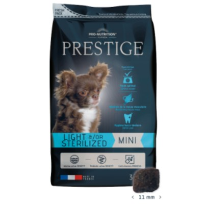 Суха храна за куче Prestige Adult Mini за дребни породи кастрирани кучета, или склонни към напълняване