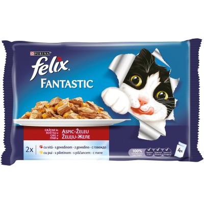 Purina Felix Fantastic Говеждо и Пиле