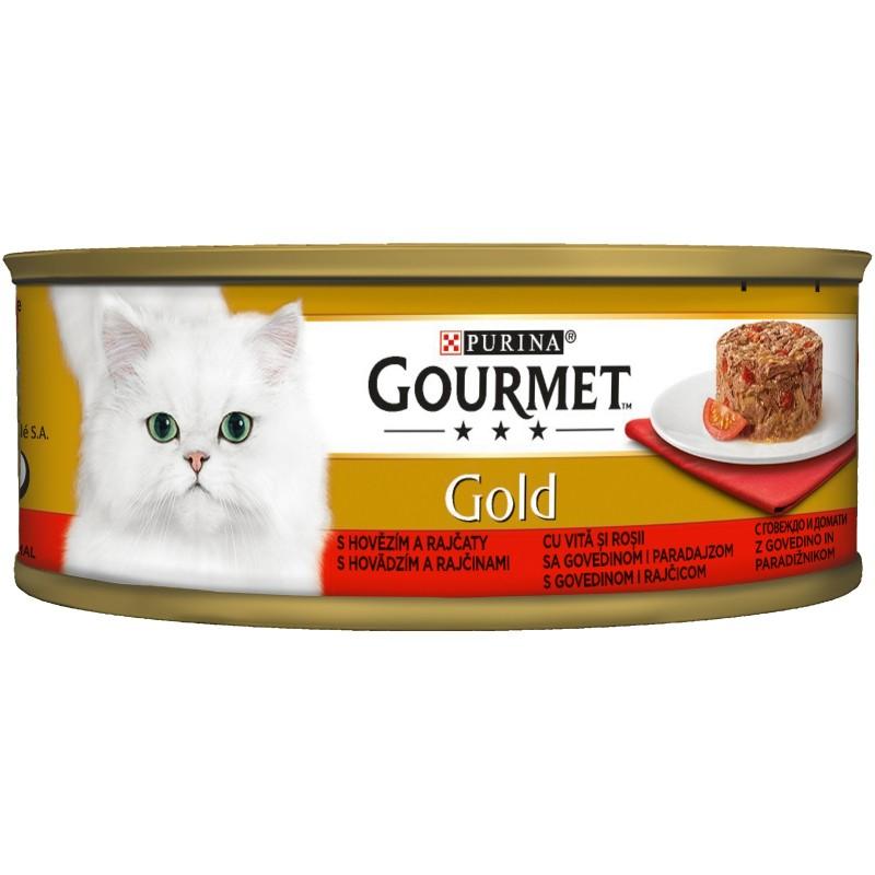 Purina Gourmet Gold Savoury Cake Говеждо и Домати