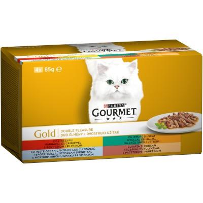Purina Gourmet Gold 4 Асортимента Двойно Удоволствие