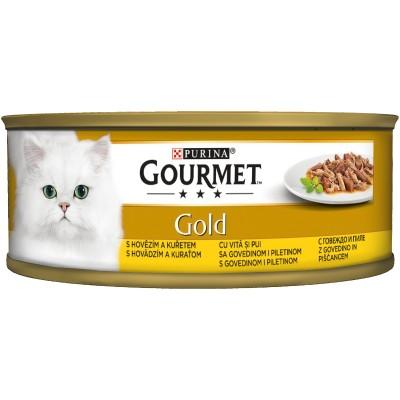 Purina Gourmet Gold Говеждо и Пиле Двойно Удоволствие