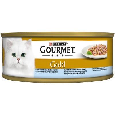 Purina Gourmet Gold Риба Спанак Двойно Удоволствие