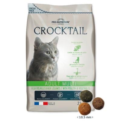 Суха храна за котка Crocktail Adult Multi за пораснали котки, чувствителни към вкуса