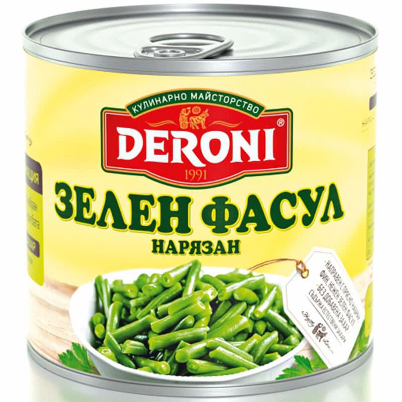 Зелен фасул нарязан Дерони
