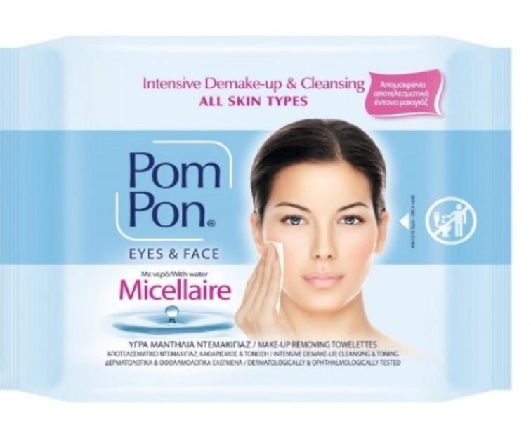 Мокри кърпи с Мицеларна вода за дегримиране Pom Pon