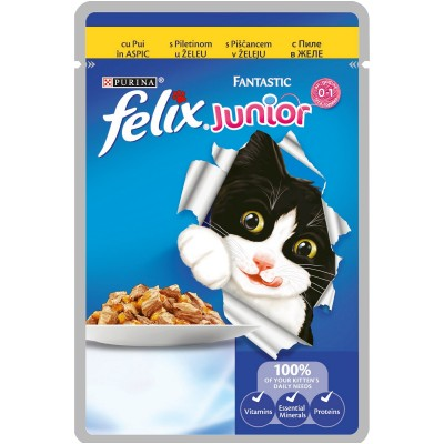 Purina Felix Fantastic Junior с Пиле