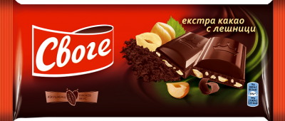 Шоколад Своге натурален с лешници