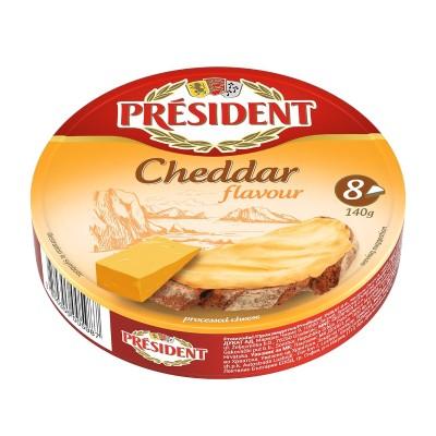 Топено сирене PRÉSIDENT Чедър