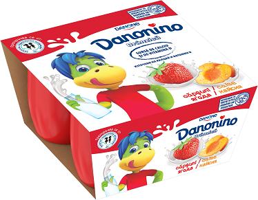 Danonino ягода и кайсия Danone