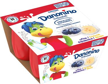 Danonino боровинка и банан