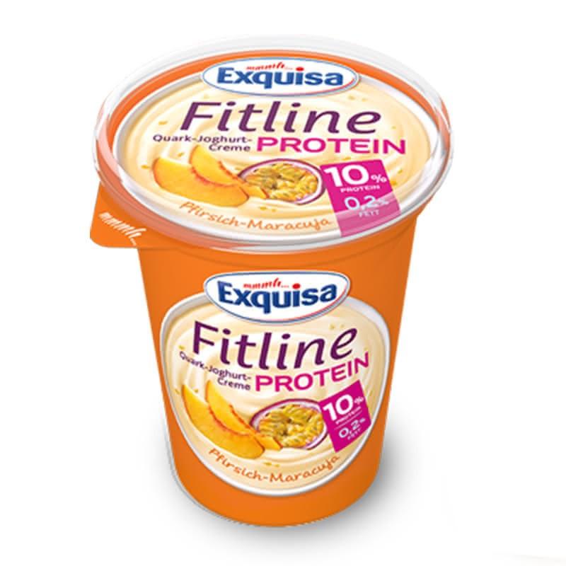 Кварк Exquisa Fitline праскова и маракуя 10% Протеин